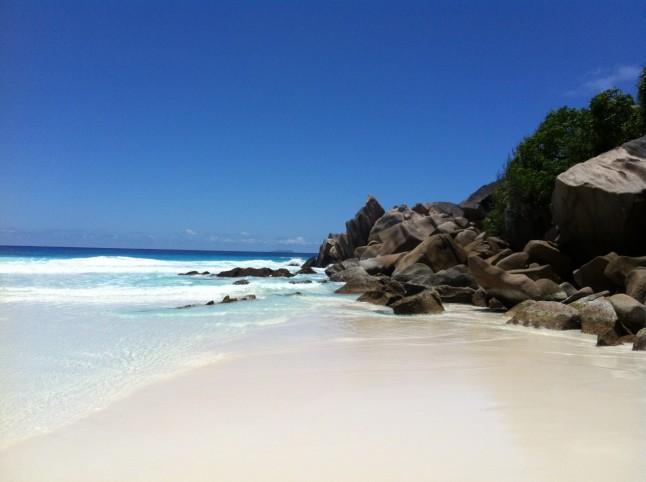 Petit Anse on Praslin Island, Seychelles